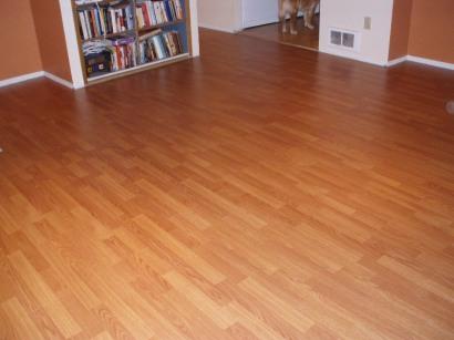 Living room floor after