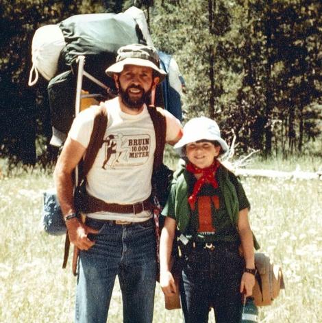 Dad & me in Grand Teton NP, 1981