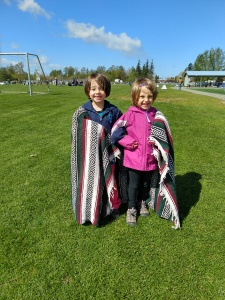 Twins at a recent soccer game